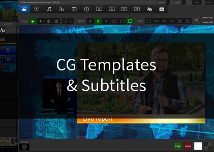 CG Templates & Subtitles