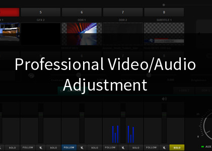 Professional Video/Audio Adjustment
